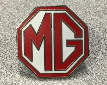 Vintage 1968-74 MG Auto Tie Tack Lapel Pin in Excellent Condition