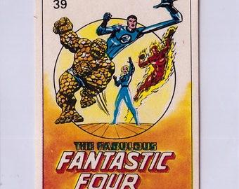 Rare 1980 Marvel Super Heroes Fantastic Four 39 Sticker