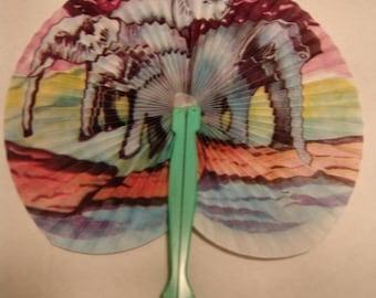 1970's Souvenir Circus 8-inch Elephant Fan