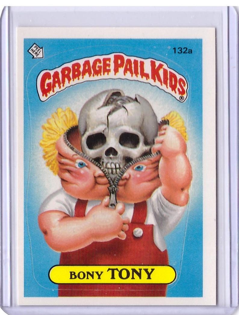 1986 Topps Garbage Pail Kids Card Bony Tony 132a image 0