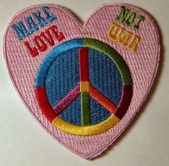 Vintage Patch Embroidered NOS War is not healthy 3 x 3 1//4 INCHES Original