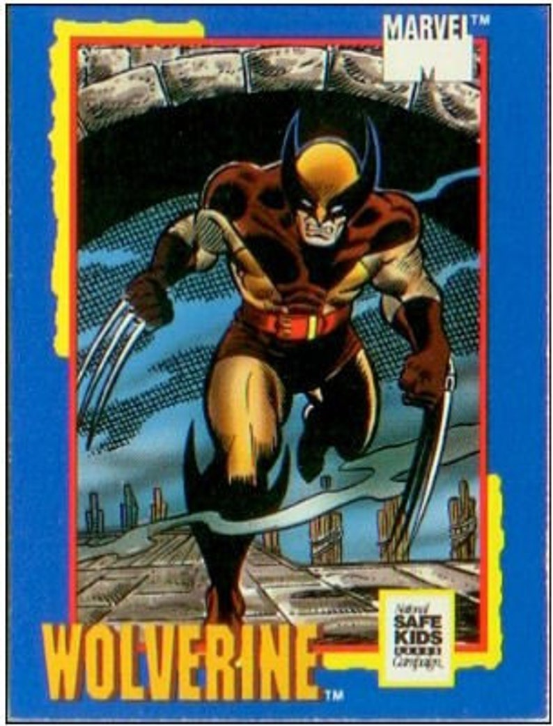 cab055c5499 1991 MARVEL Trading Card from Impel Limited Edition WOLVERINE
