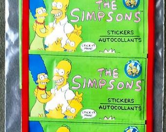 5 Unopened 1990 SIMPSONS Diamond Sticker Packs
