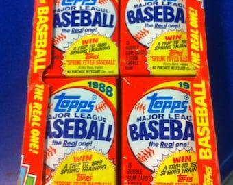 ONE 1988 Topps Baseball Card Pack
