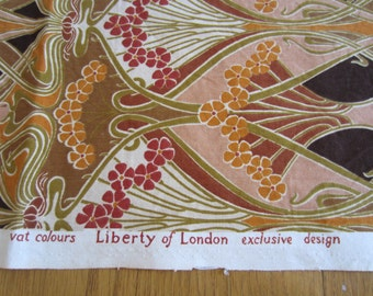Liberty of London Furnishing Weight Fabric Vintage Floral 1970s
