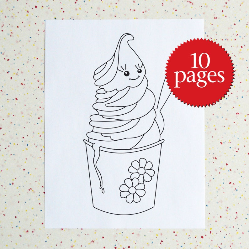 Incredible Ice Cream Colouring Pages - Ice Cream Coloring Book - Ice Cream  Downloadable PDF - DIY colouring pages