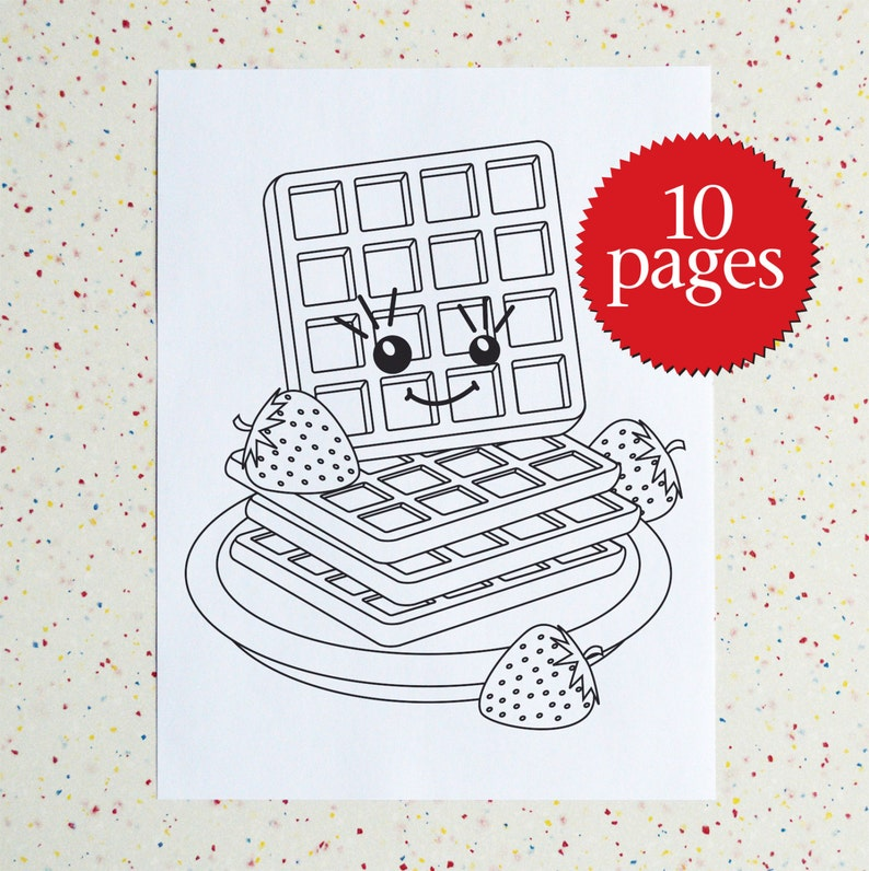 Breakfast Colouring Pages Downloadable Pdf Printable Coloring Book