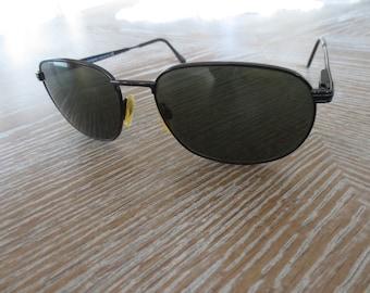 YSL Sunglasses Black Yves St. Laurent Men's Vintage Eye Wear Designer Accessory