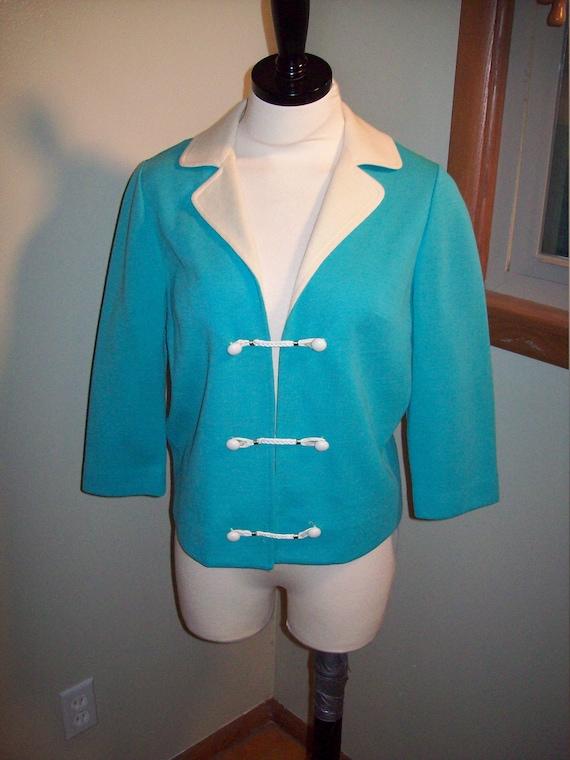 MOD Home Sewn Woven Wool and Fox Fur Vintage 1960s Two Piece Suit very JACKIE KENNEDY