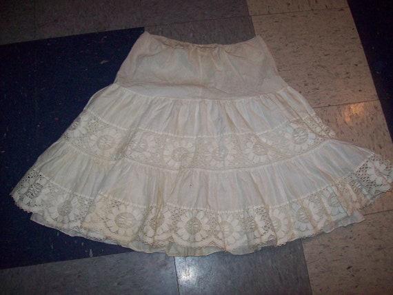 Original Vintage 50s 60s White Skirt Dress Crinoli