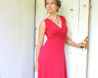 Lotus - Sleeveless V-Neck Maxi Dress (Soy or Bamboo Organic Cotton Jersey) Many Colors to Choose From