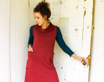Aspen Pocket Jumper - Hemp Fleece or French Terry - Choose Your Color - Handmade in U.S.A. - Organic Women's Clothing - Eco Fashion