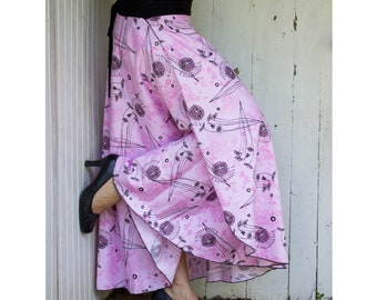 Organic Cotton Print Wrap Skirt - Organic Cotton Sateen - Made to Order - Many Prints & Colors Available - Maternity - Travel - Spring