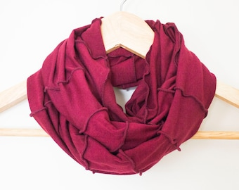 Organic Fabric Infinity Scarf - GREAT GIFT - Many Colors Available - Organic Cotton Blend - Circle Cowl Scarf - Fast Shipping - Handmade