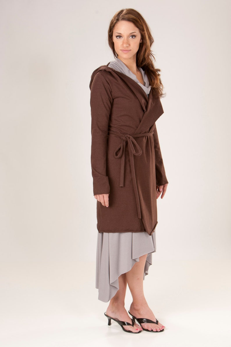 Several Colors to Choose From Hemp Hooded Wrap Coat