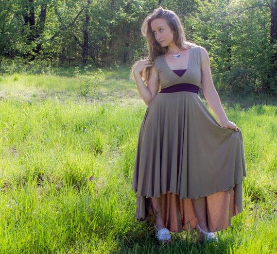 728a4927042 Isabella Dress Organic Cotton Blend Lined Bust V-Neck High