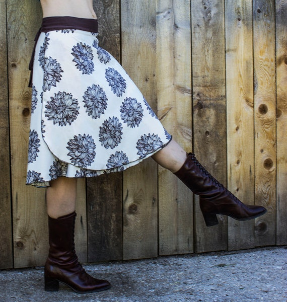 dahlia wrap skirt organic cotton sateen made to order etsy