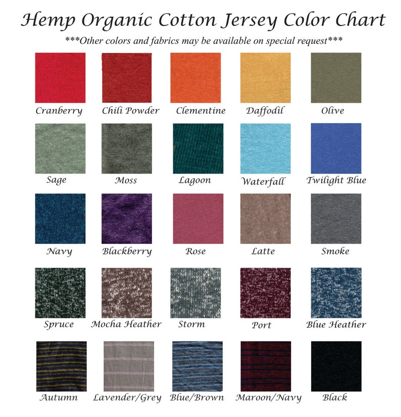 Several Colors Available Hemp Organic Cotton Full Length Wrap Skirt Made to Order