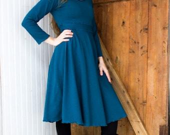 SAMPLE SALE - Athena Stretch Hemp Dress - Sizes XS, Xl - 2 Colors - Organic Clothing - Hemp/Organic Cotton Scoop Neck Dress - Ready to Ship