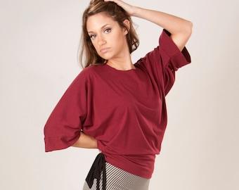 Marisha Kimono T-Shirt - Organic Fabric - Many Colors to Choose From - Made to Order - Eco Fashion - Made in the U.S.A. by Rowan Grey
