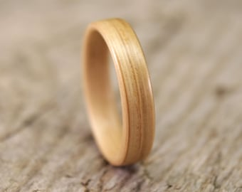 Bentwood Ring - White Oak Wooden Ring - Handcrafted Wood Wedding Ring - Custom Made