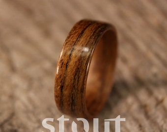 Bentwood Ring - Tropical Olivewood Wooden Ring - Handcrafted Wood Wedding Ring - Custom Made