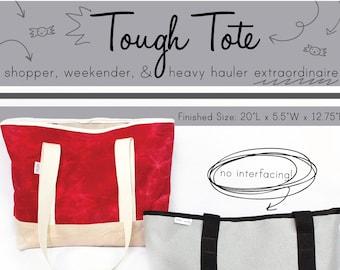 Tough Tote **PDF Sewing Pattern** -Instant Download- weekender, shopper