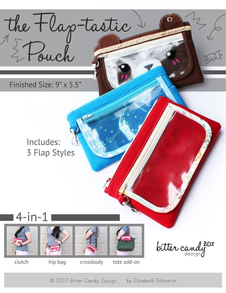 Flaptastic 4-in-1 Pouch  PDF Sewing Pattern Instant image 0