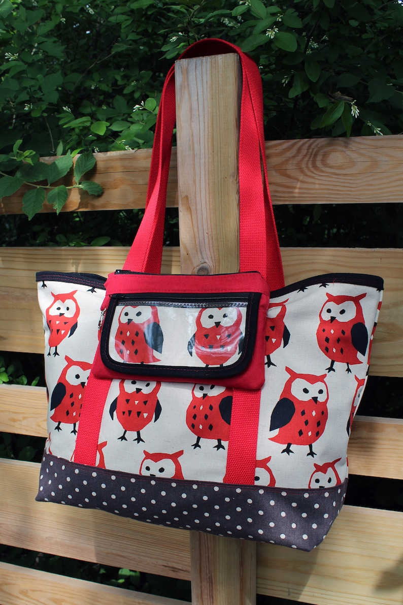 BUNDLE  Tough Tote and Flaptastic Pouch  PDF Sewing image 0
