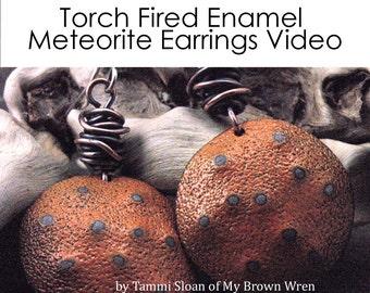 Torch Fired Enamel Tutorial Meteorite Earrings