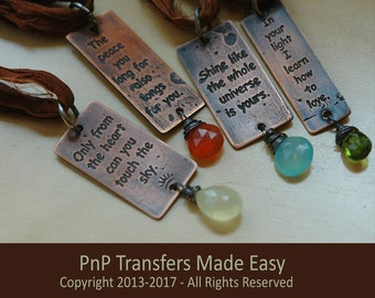 Tutorial:  PnP Blue Transfers to Metal for Etching