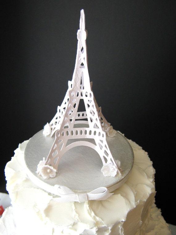 Eiffel Tower Wedding Cake Topper | Etsy