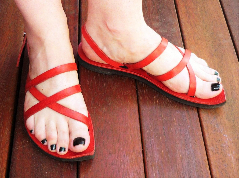 Athena - - - Adjustable Leather Sandal 5f5a0a