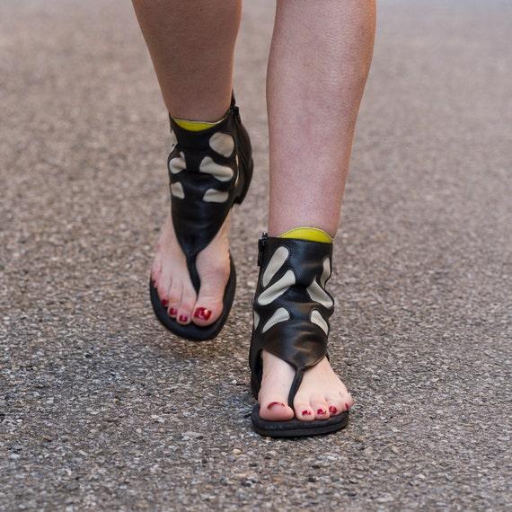 Amusant une une une sandale botte de cheville Funky   Dans De Nombreux Styles  aab72b