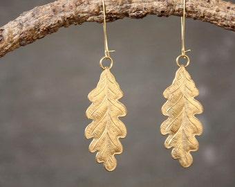 Oak Leaf Woodland Earrings