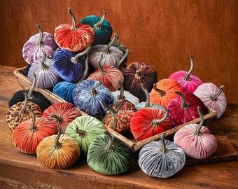 Small Velvet Pumpkin, fall decor, table centerpiece, cozy home gifts, farmhouse decor, wedding centerpieces, best selling item