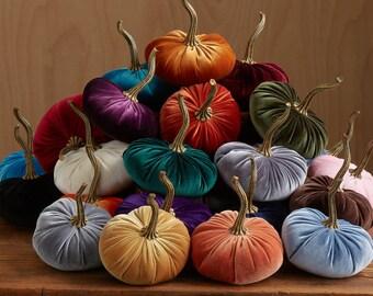 Velvet Pumpkins WHOLESALE ORDER MINIMUM 24 pieces, wedding decor, tablescape centerpiece, wholesale home decor trends, best selling items