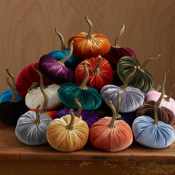 Gorgeous Velvet Pumpkins