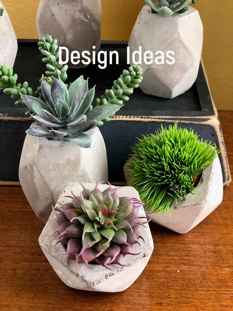 Craft Supplies DIY Terrarium Plants Spring Decor Artificial Small Succulent Mini Greenery Sedum Pick Brown 5 Faux Succulents Wreath