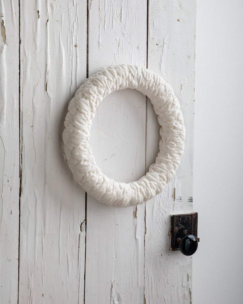 Ivory Velvet Wreath front door wreath summer door decor image 0