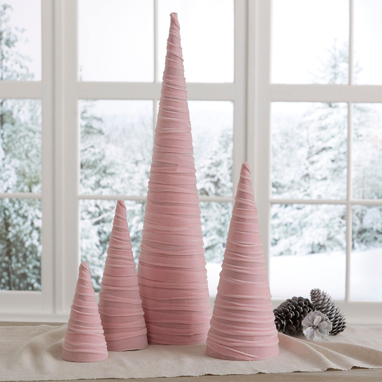 Home Decor Hostess Gifts: Velvet Trees Set Of 4 Pink Rustic Home Decor Hostess Gifts