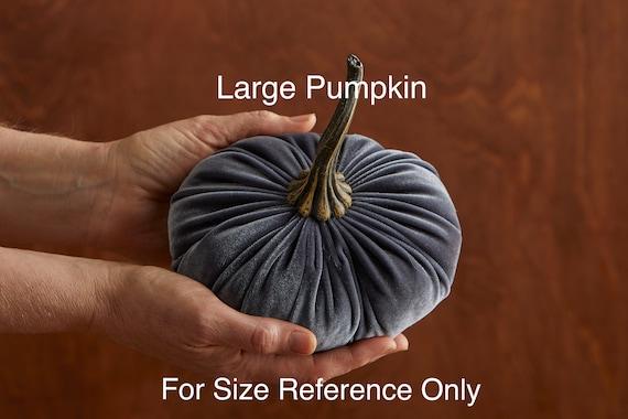 Velvet Pumpkins set of 3 Large, Fall wedding centerpiece, modern rustic  wedding decor, mantle decor, Thanksgiving decor, best selling item