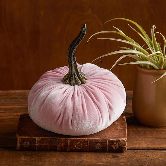 Large Velvet Pumpkin Pink Rustic Coffee Table Decor Modern Etsy