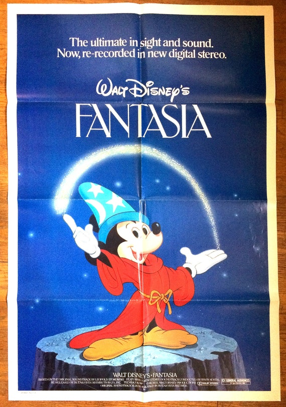 Disney Fantasia Movie Poster Usa One Sheet Size 27 Etsy
