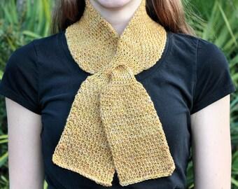 Tunisian Crochet - Abalina - honeycomb stitch scarf bee hive neck wrap loop classic