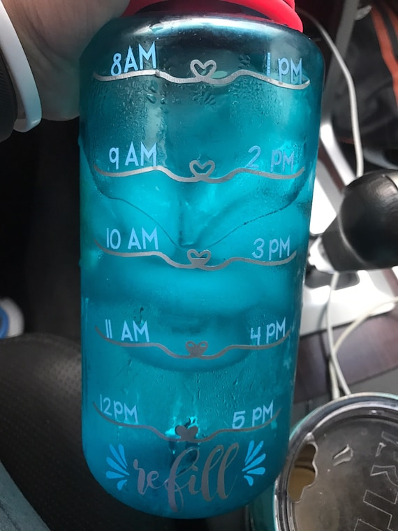 Water bottle Heart fill lines SVG
