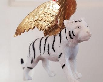 Golden winged white tiger
