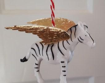 Golden winged zebra