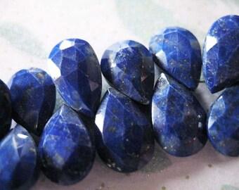 20 Pcs,Super Finest Iolite Blue Quartz Faceted Pear Briolettes Size 7X10mm Large