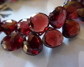 14.5x7 mm Natural Mozambique Garnet Beads Matched Pair Mozambique Garnet Beads Mozambique Garnet Faceted Pear Briolette Beads. AAA++